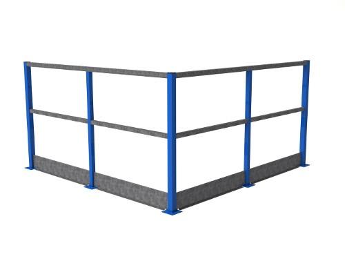 Standaard Leuning staal
